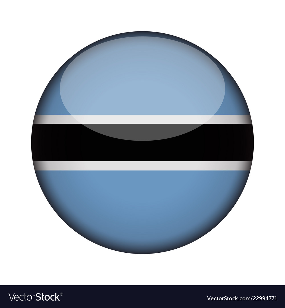 050dd1b30641 Botswana flag in glossy round button of icon Vector Image