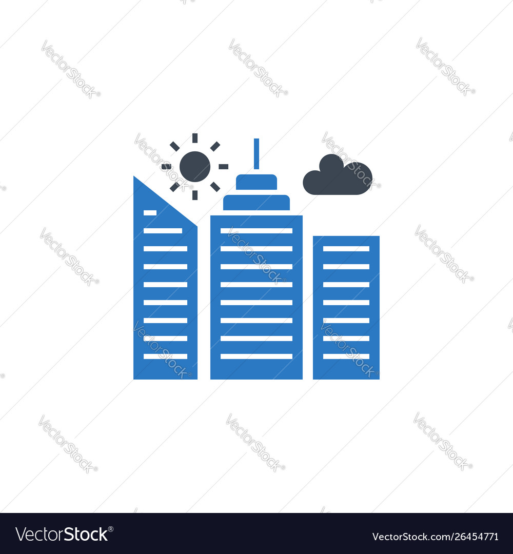 City building related glyph icon