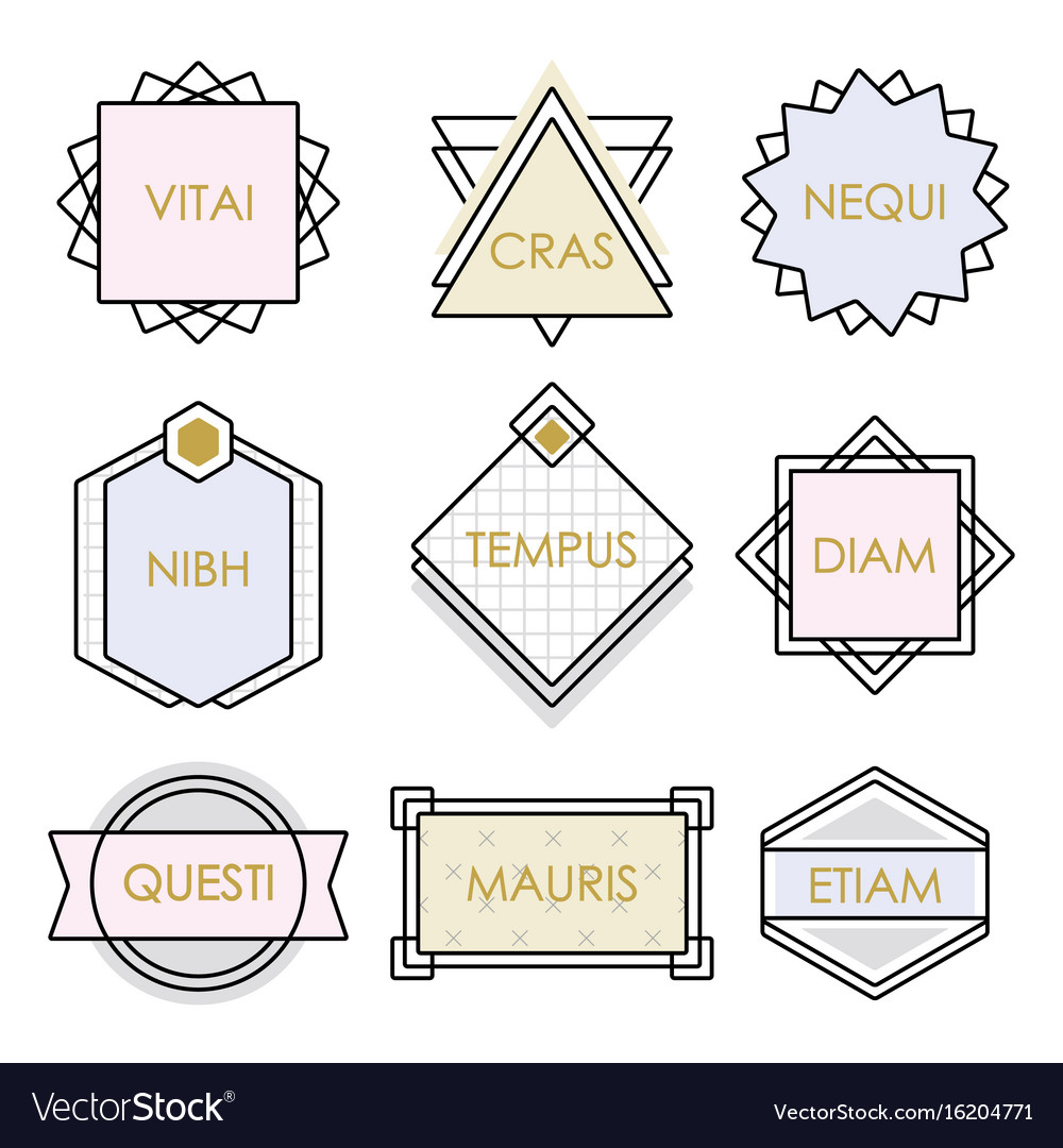 Cute geometrical line vintage emblems and labels