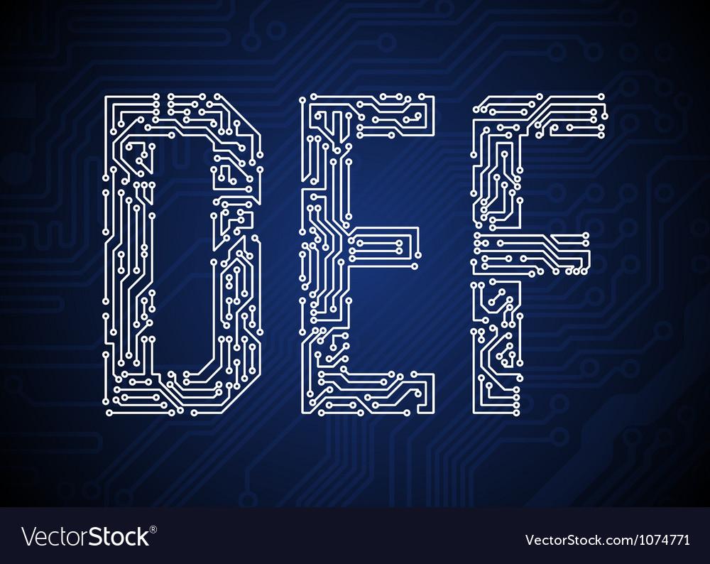 DEF vector image