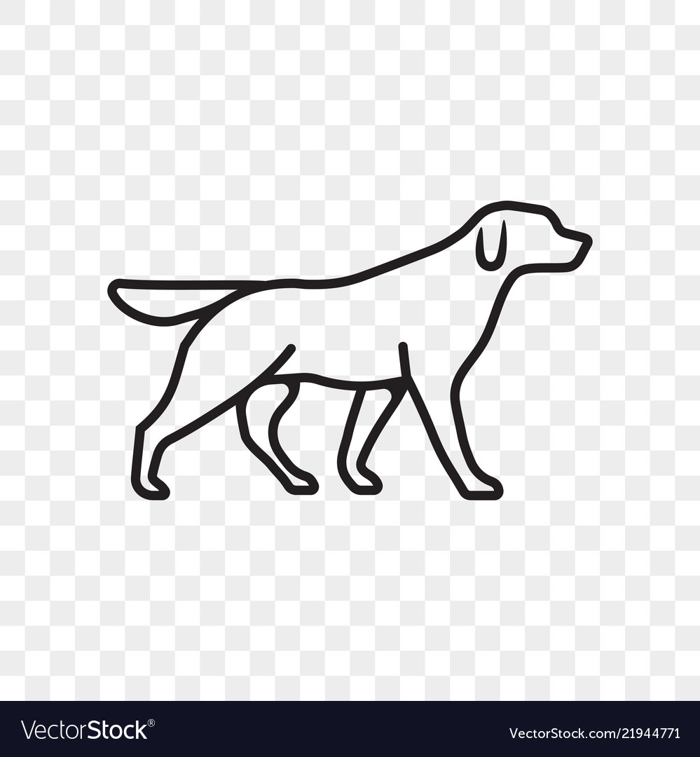 Dog pet outline icon