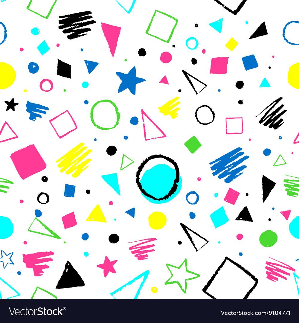 Geometric 1980s styled pattern