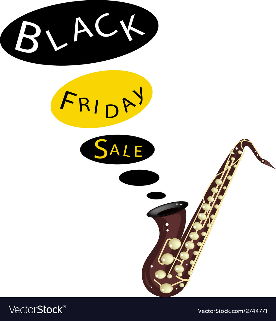Musical Bass Saxophone Playing Black Friday Sale