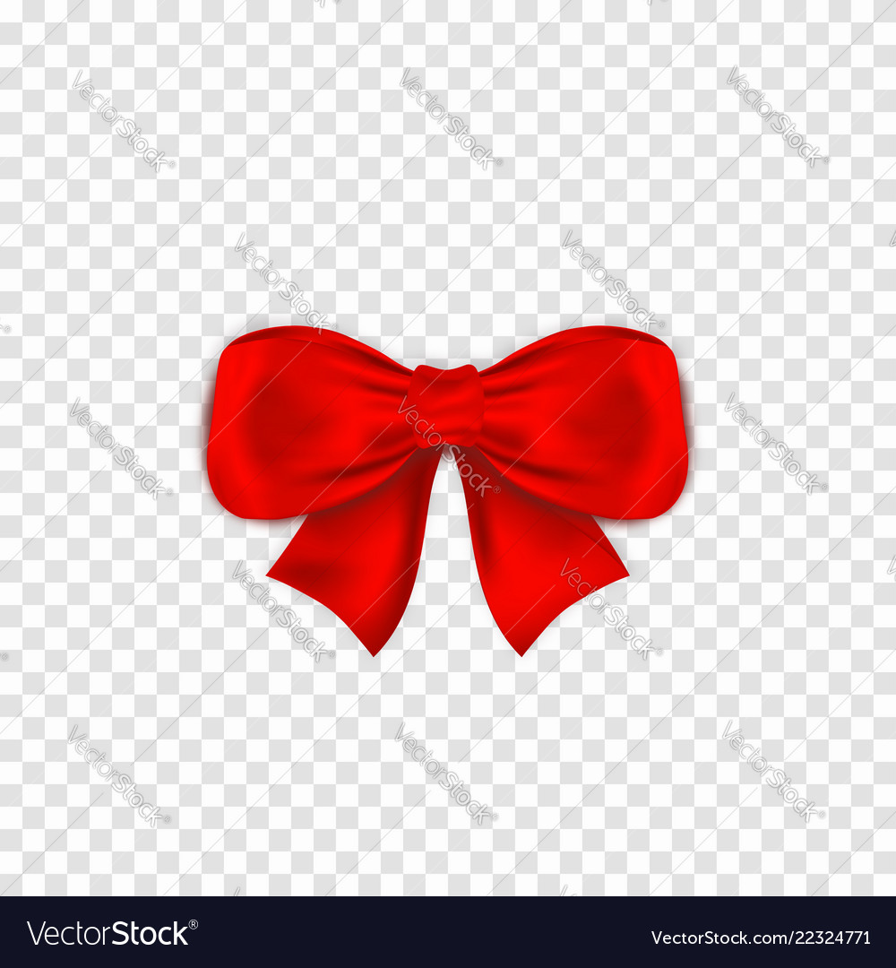 Red bow isoltaed on transparent background