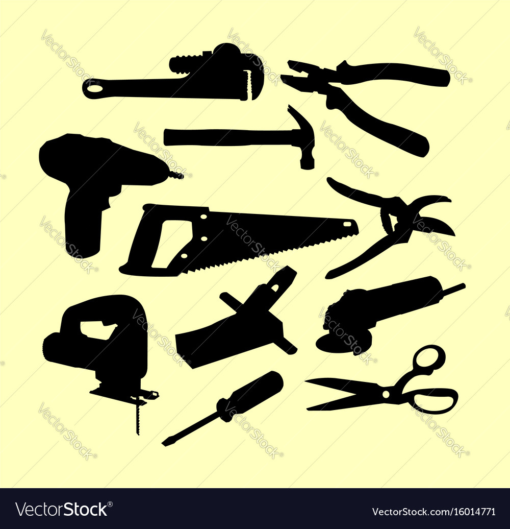 Service tools silhouette
