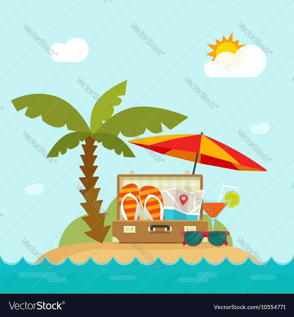 Summertime Trip Resort Island Beach Concept Of