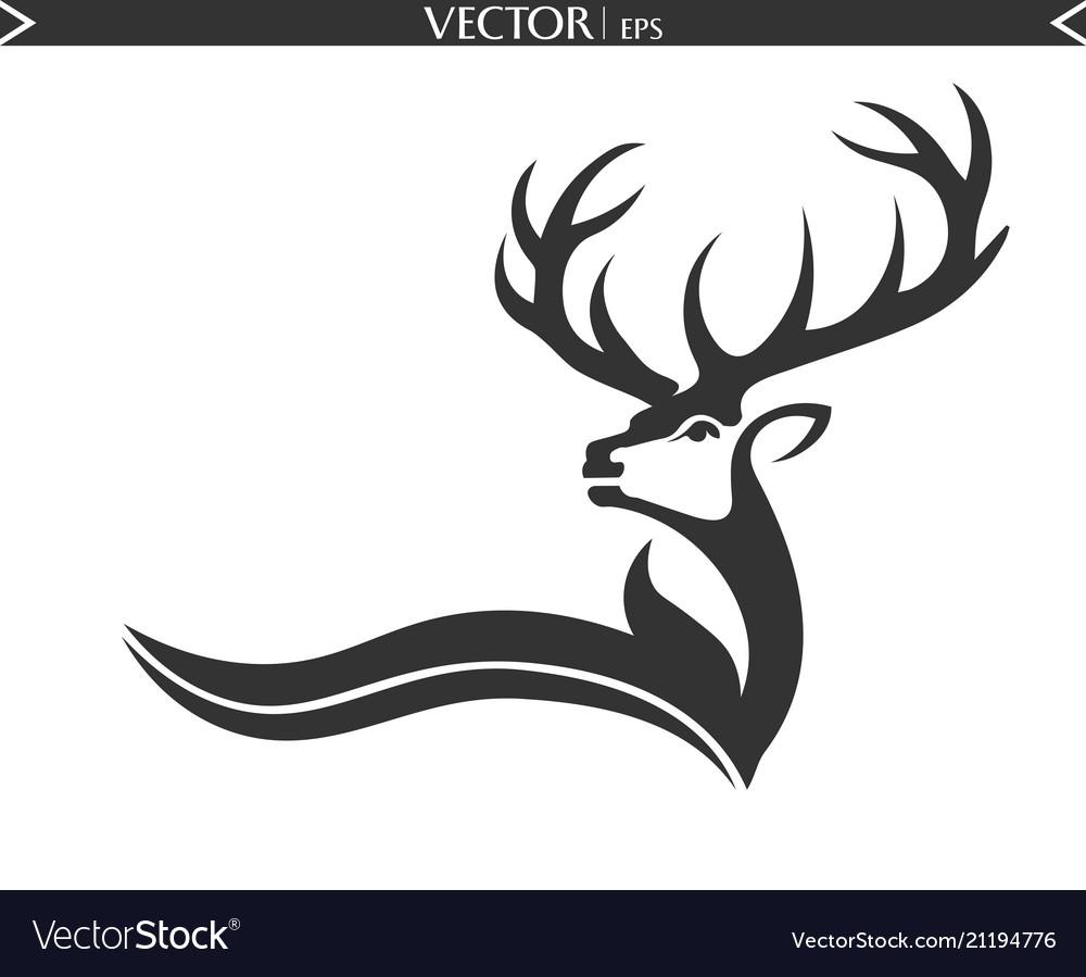 Abstract deer logo