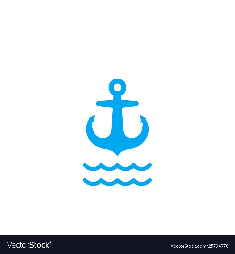 Anchor icon on white sign