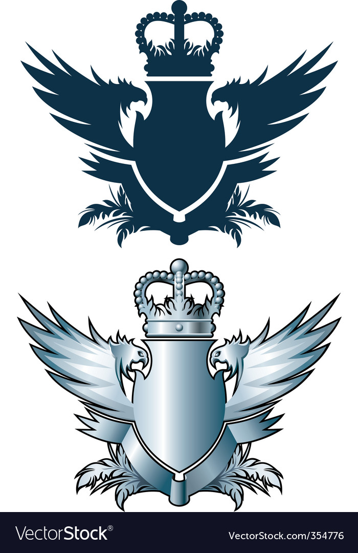 Crown and iron wings
