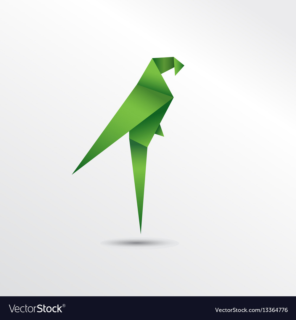 Origami Bird Tutorial - How to fold a Parrot - video dailymotion | 1080x1000