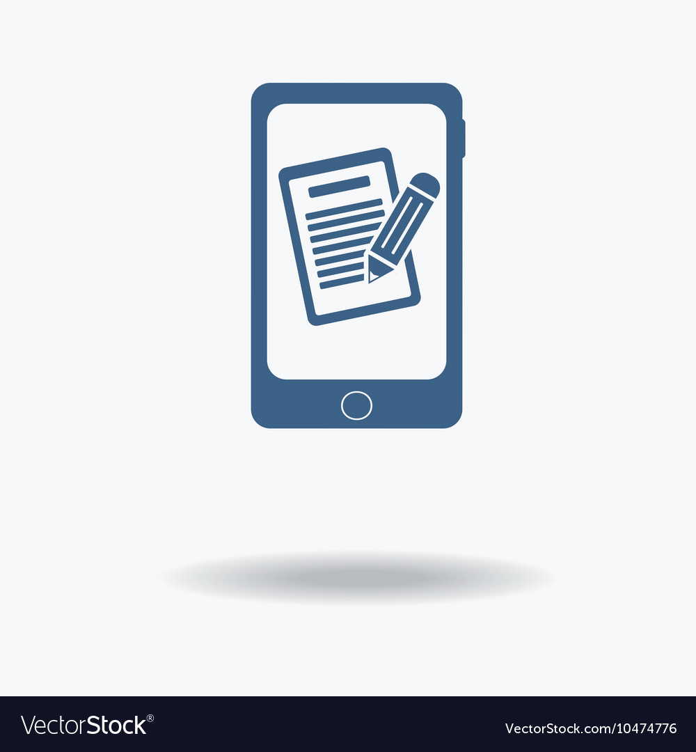 Phone mobile form queue resume Pictograph of Vector Image