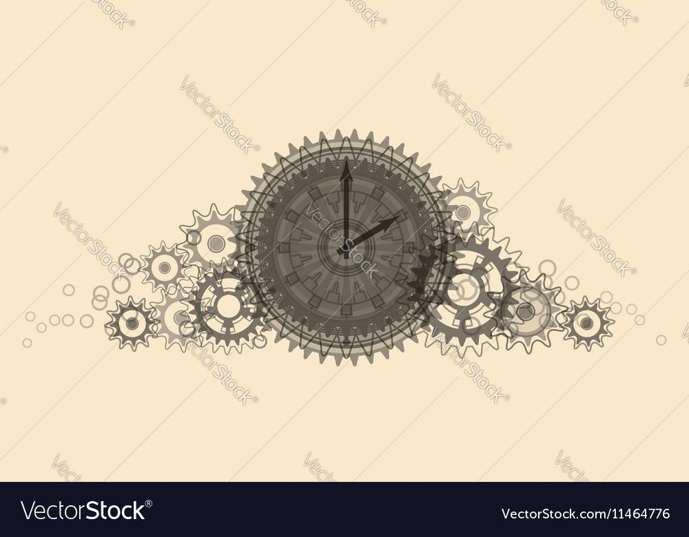 Retro Clock Pale beige vector image