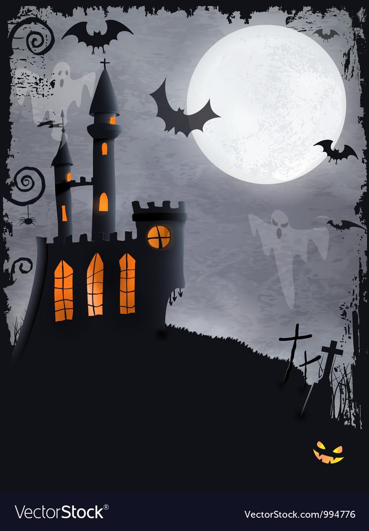 Spooky Halloween castle background