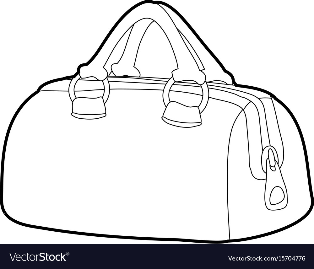 2687a790e9 Sports bag icon outline Royalty Free Vector Image