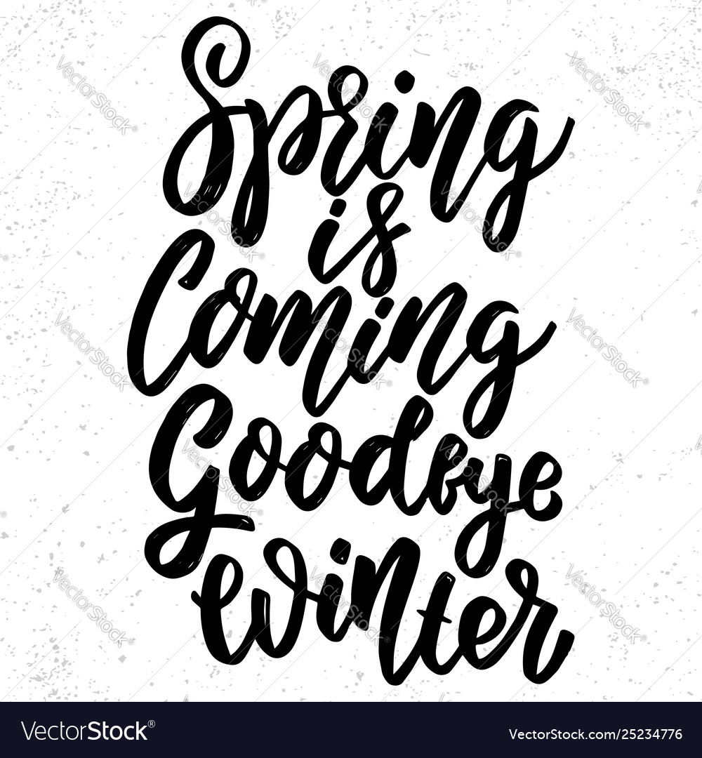 Spring is coming goodbye winter hand drawn