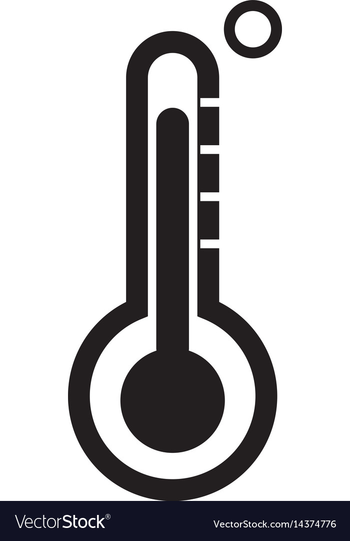 Thermometer icon on white background vector image