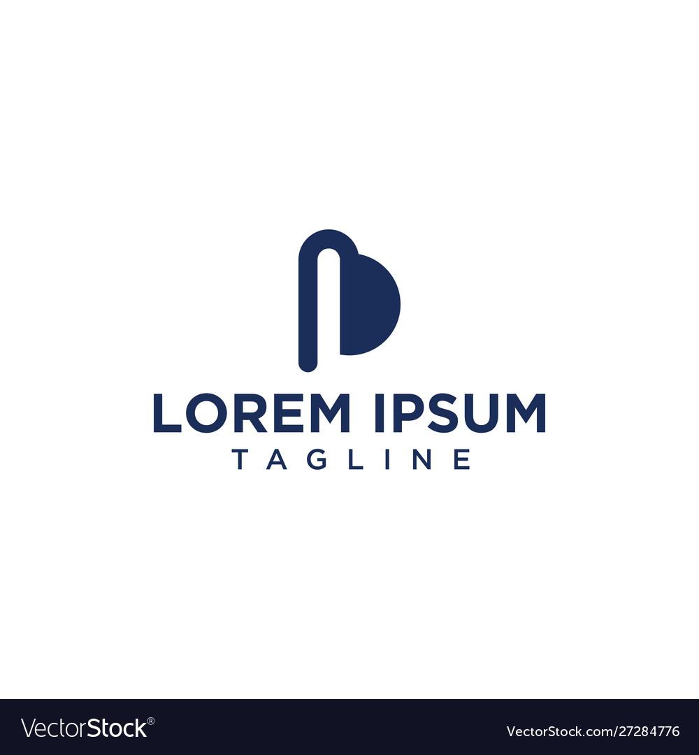 Unique pb or bp line logo