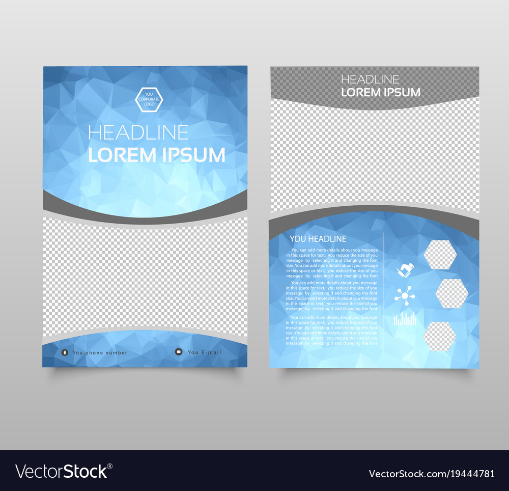 Abstract background annual report template modern vector image