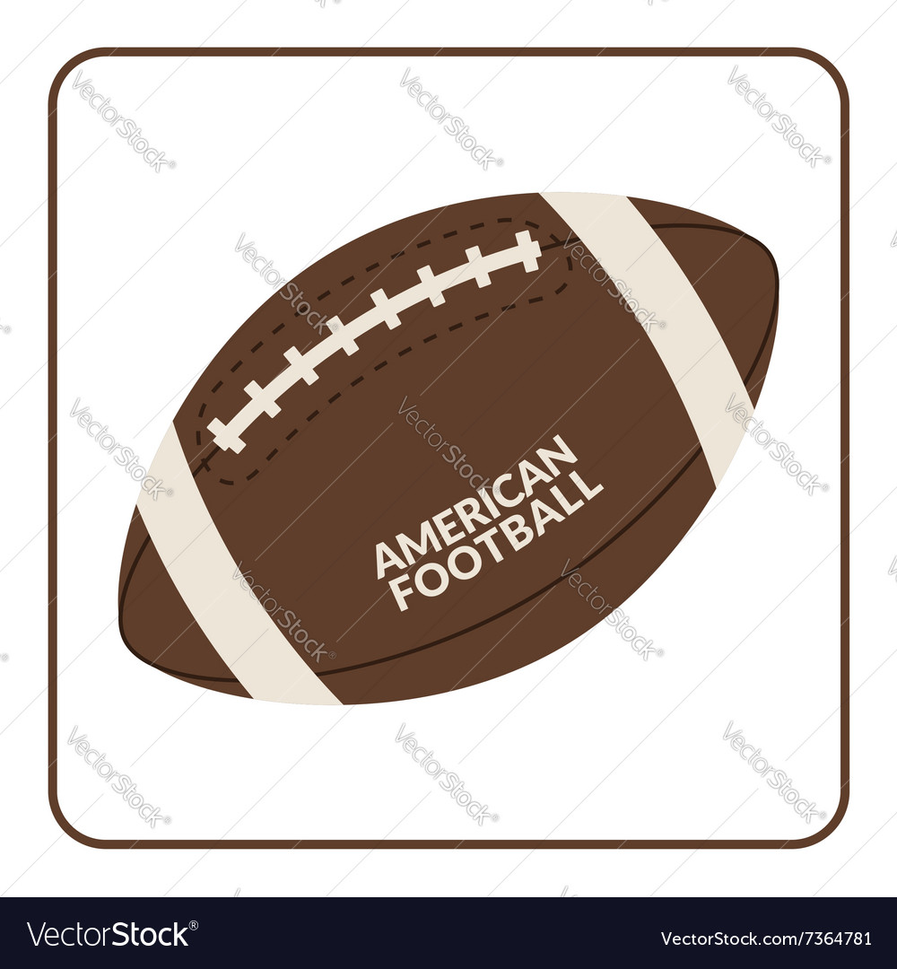 Ball for american football isolated on a white