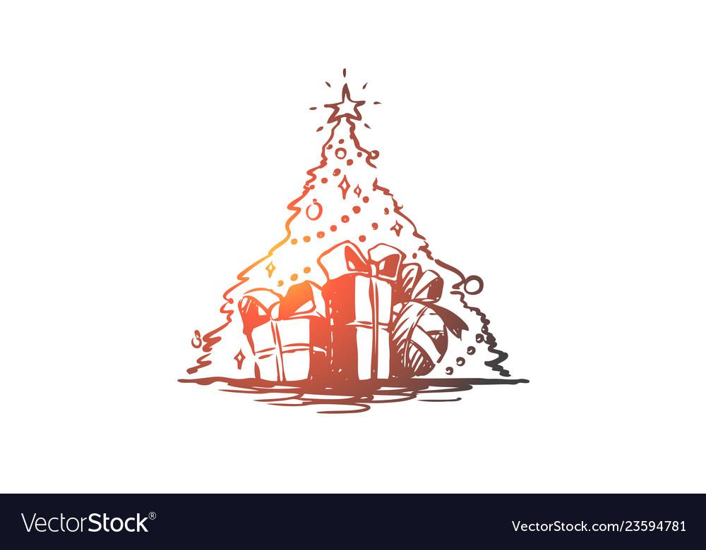 Christmas tree gift holiday celebration