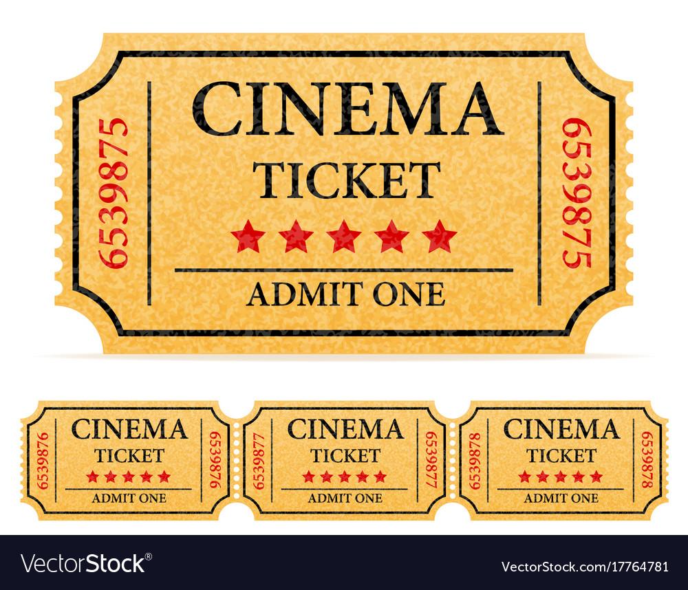 Cinema ticket stock vector image
