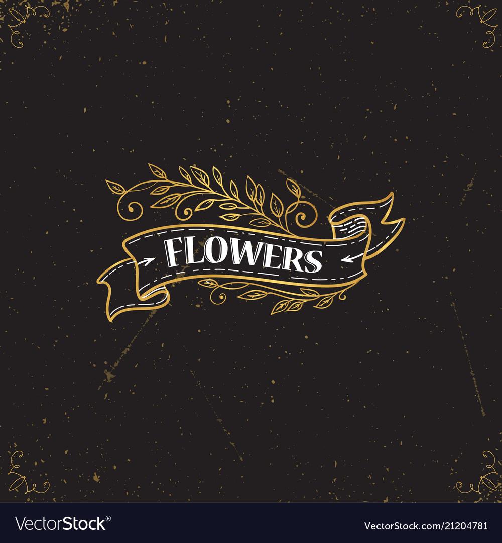 Gold logo template