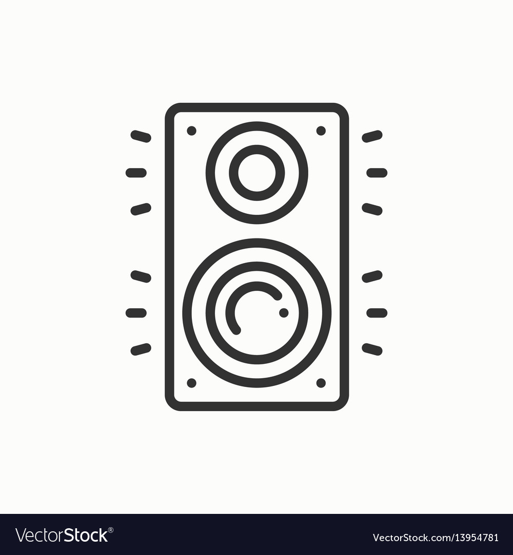 Music column audio speakers icon stereo music vector image