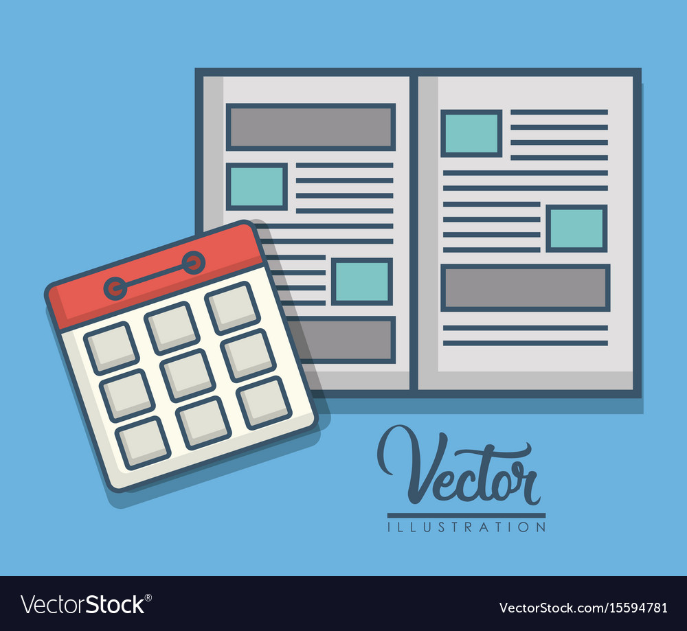Notebook and calendar icon