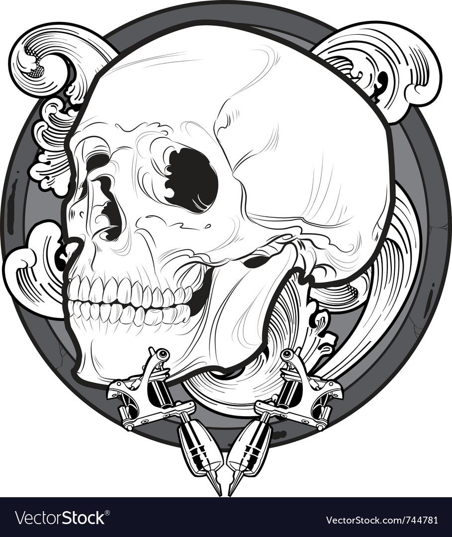 Skull tattoo Royalty Free Vector Image - VectorStock