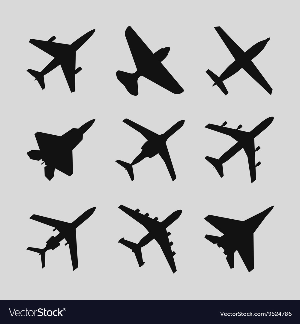 Airplane aircraft icons