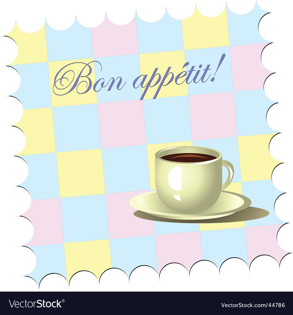 Bon appetite vector image