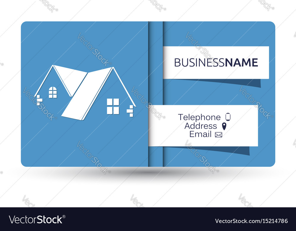 Business card for real estate and construction of