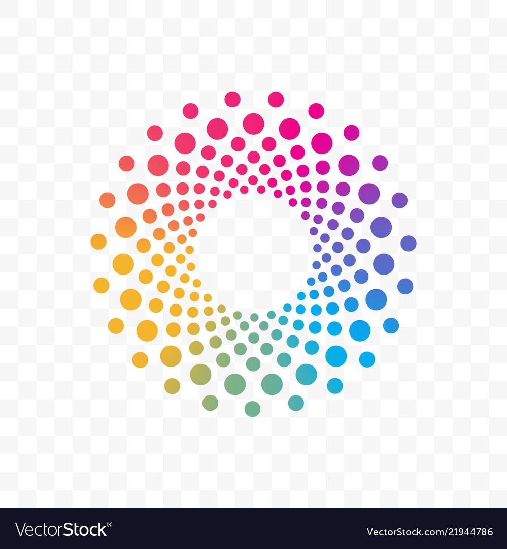 Company color circle dots brand icon