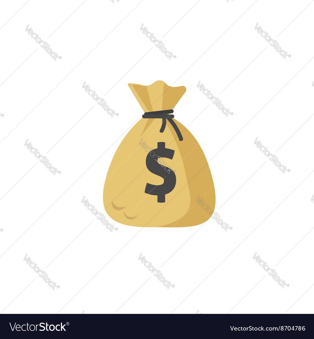 Money bag icon moneybag flat simple vector image