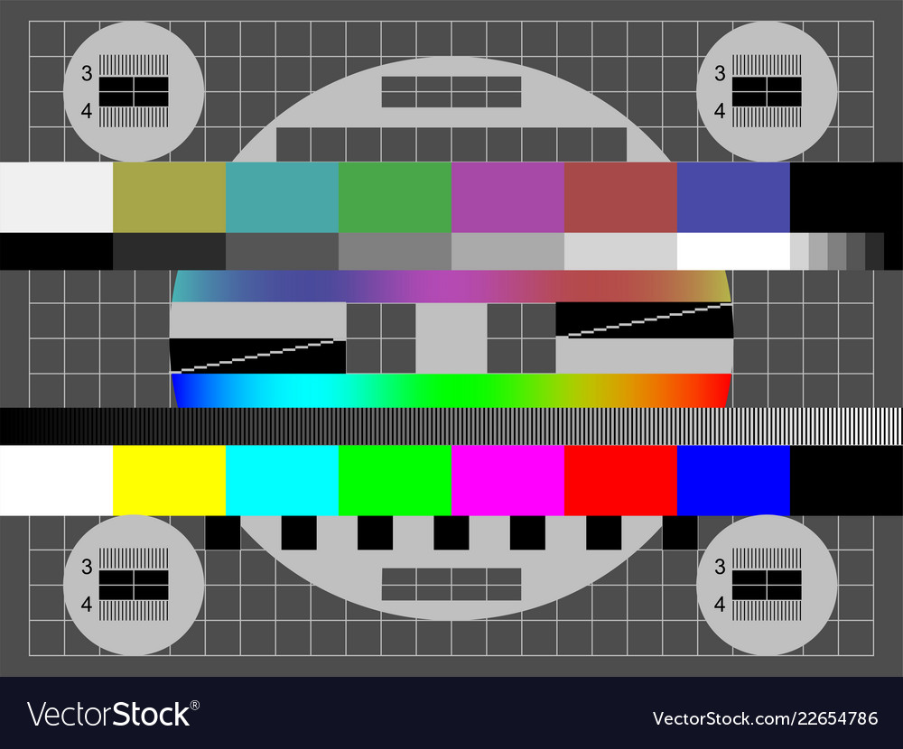 no signal tv color test screen royalty free vector image