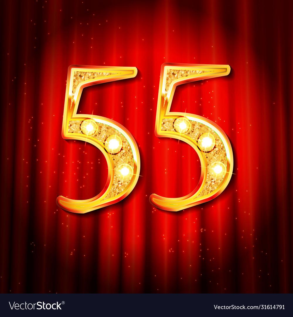 55 year anniversary gold