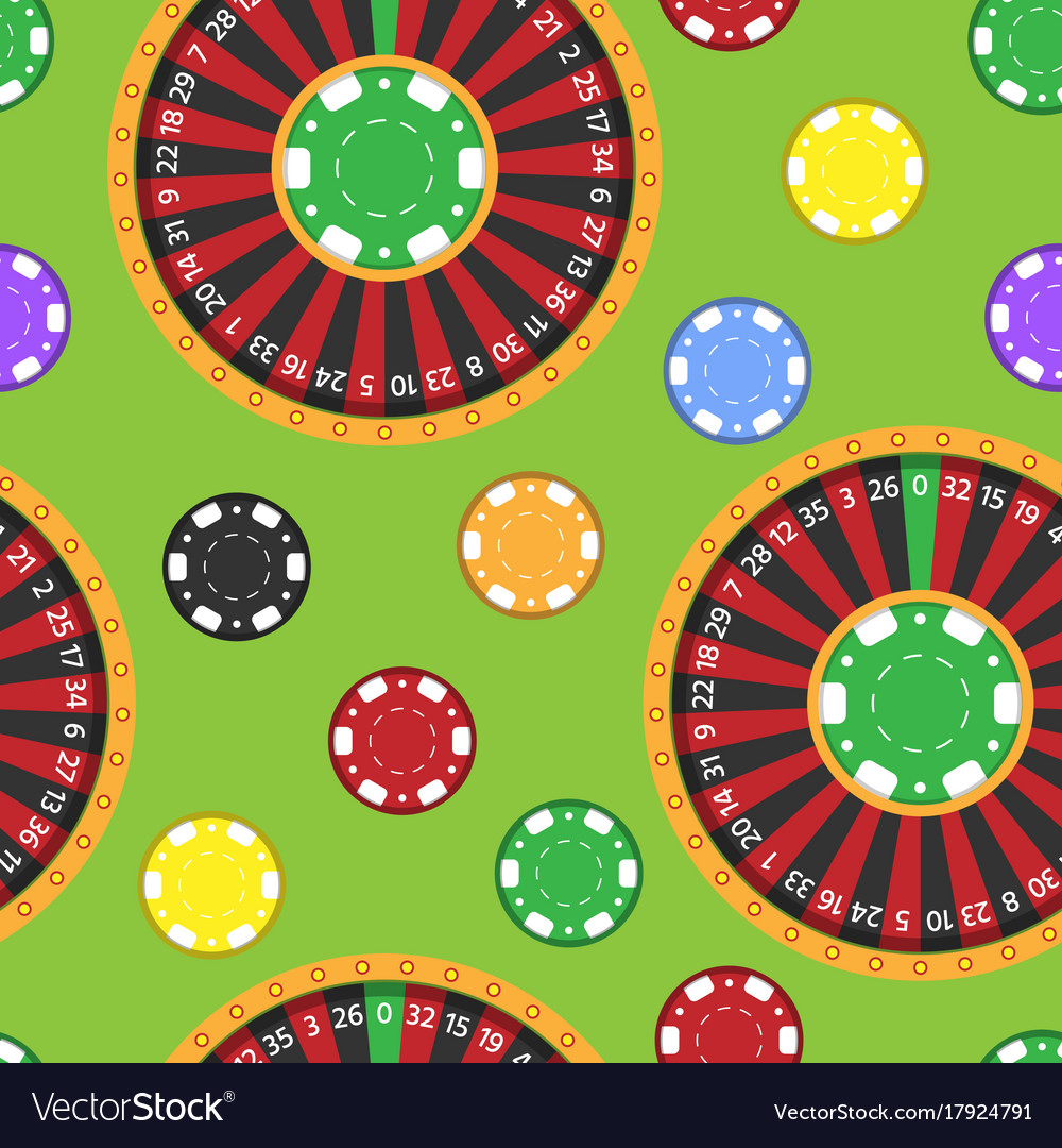 Casino fortune wheel roulette gambling game chips