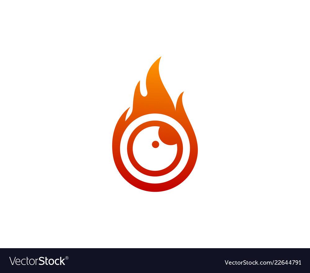 Fire eye logo icon design