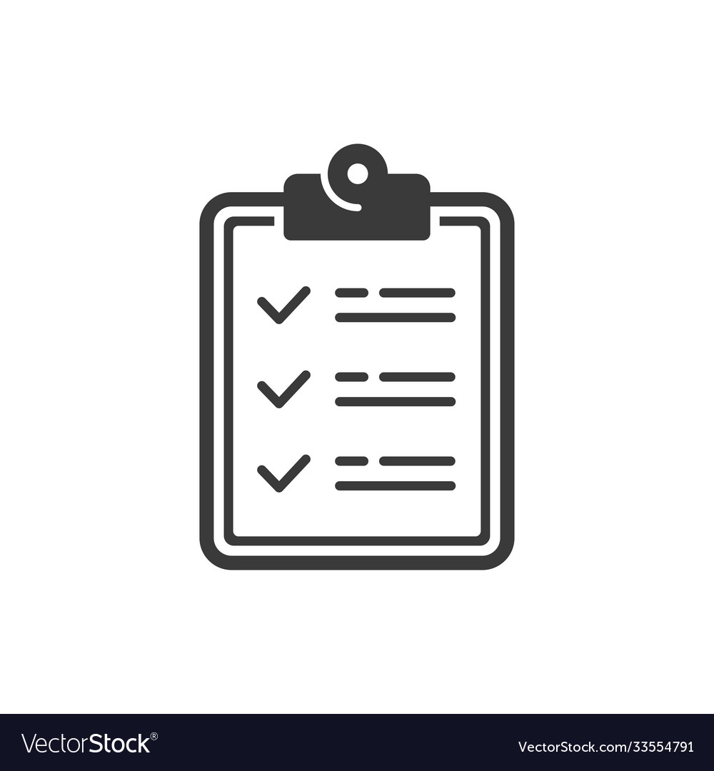 Icon clipboard document with checklist