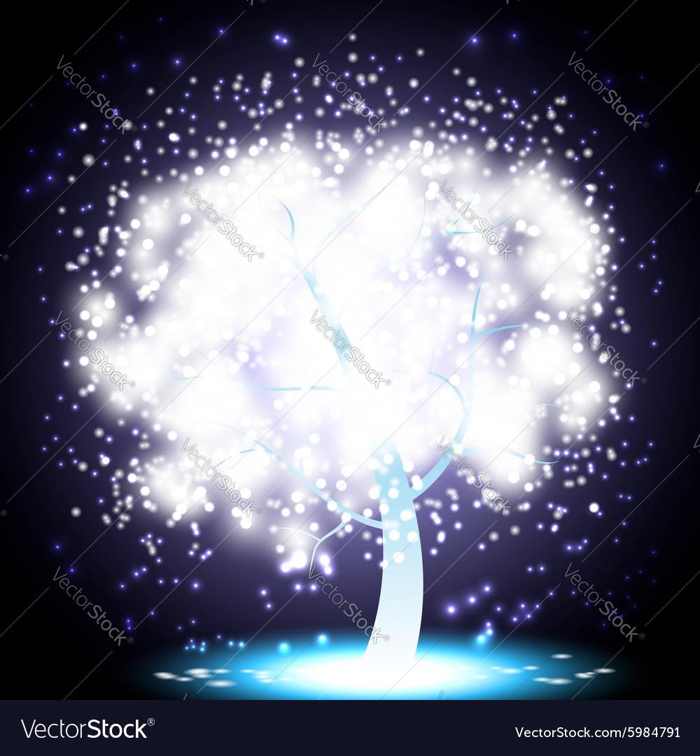 Magical Christmas Tree vector image