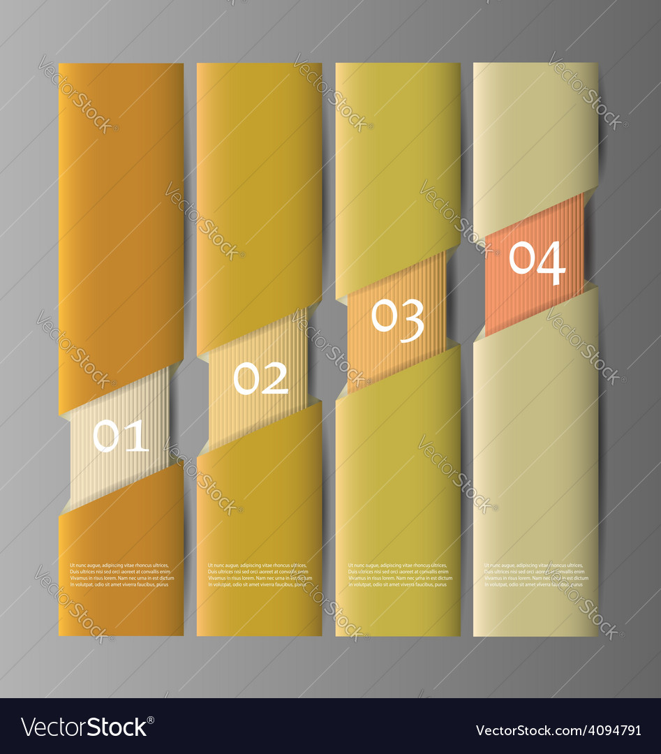 Paper numbered banners design template