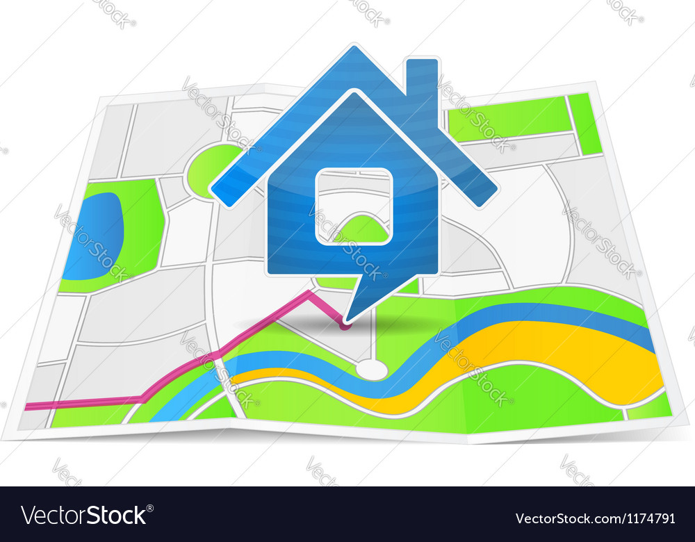Path to the House vector image