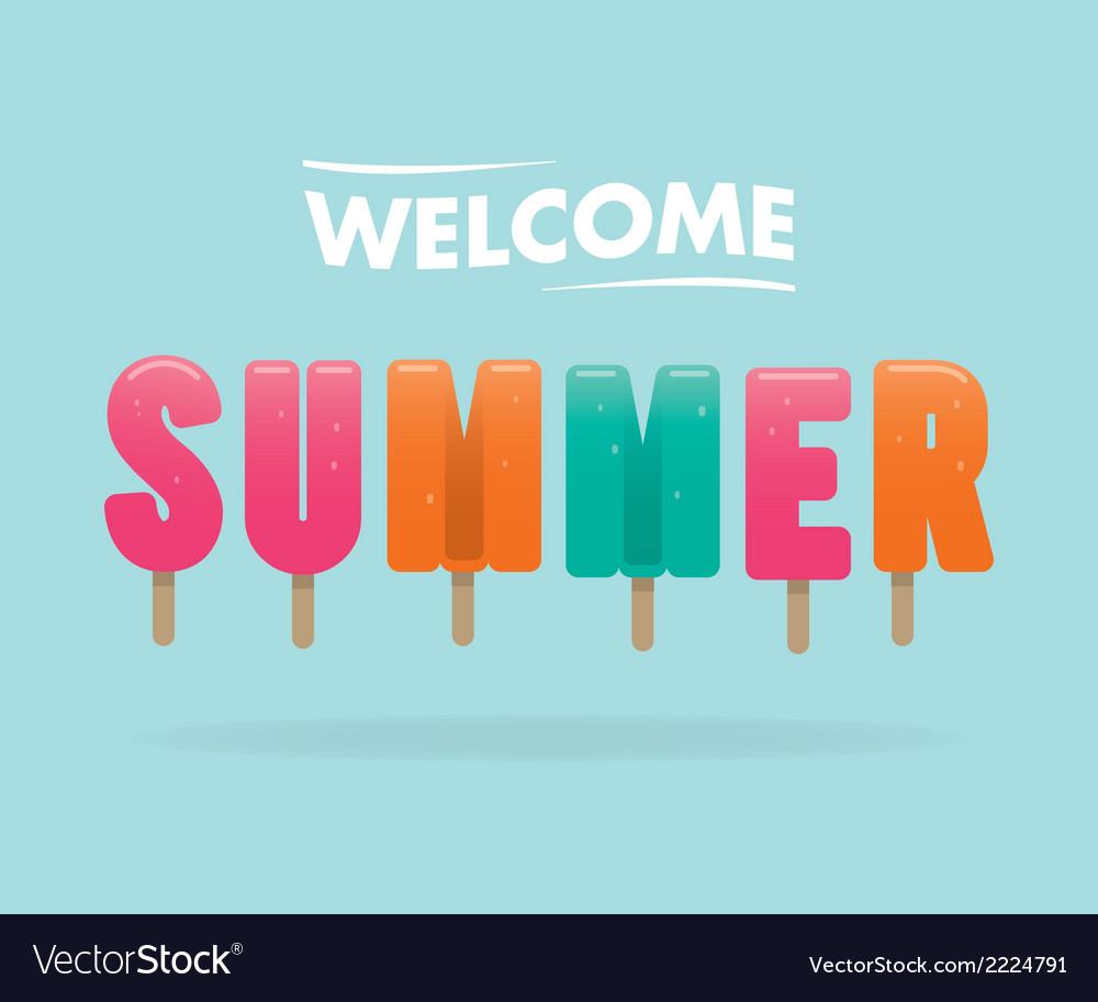 Welcome summer vector image
