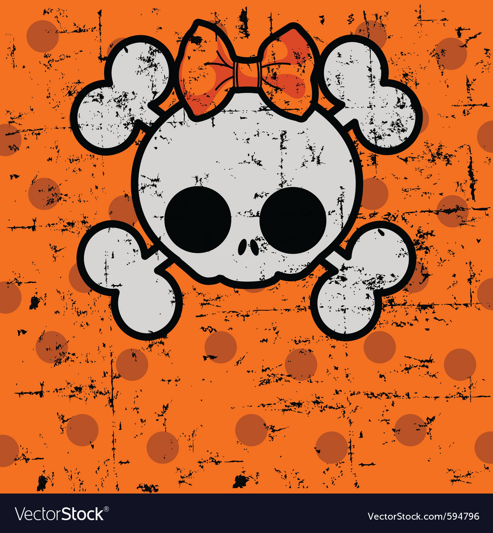 cute halloween skull royalty free vector image