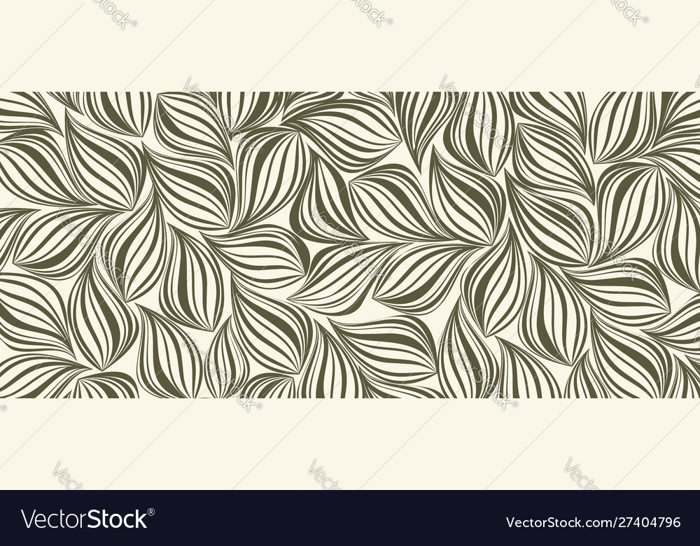 Seamless background with silhouette foliage