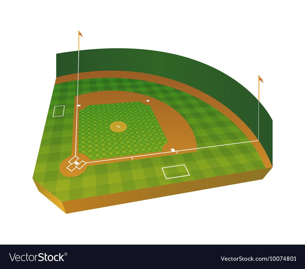 3d baseball field royalty free vector image vectorstock rh vectorstock com Baseball Bat Vector baseball field vector clipart