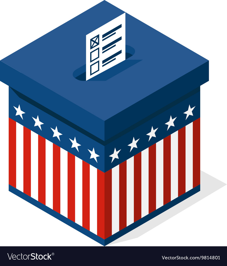 Box for a vote presidential elections in the