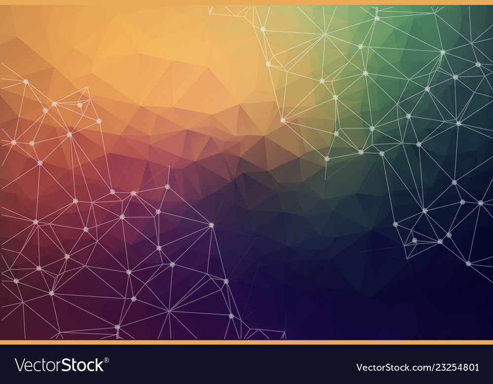 Colorful polygonal background abstract form with