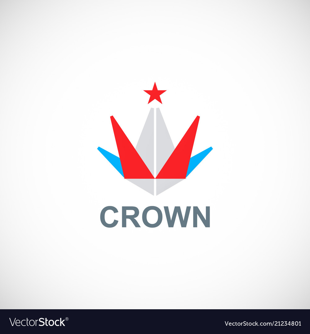Crown triangle star logo