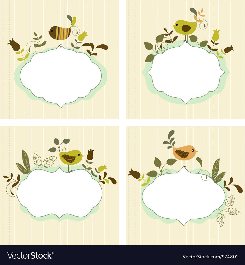 Floral frames vector image